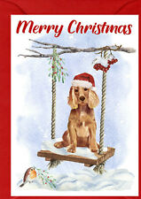 "Cocker Spaniel Dog A6 (4"" x 6"") Christmas Card - Blank inside - by Starprint"