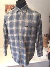 Lee ~ sanforized thick cotton blue check lumberjack casual shirt  ~ M 36-38
