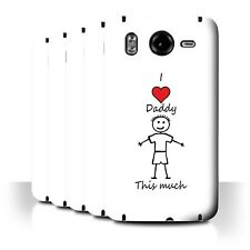 STUFF4 Back Case/Cover/Skin for HTC Desire HD/G10/I Love My Mummy Daddy