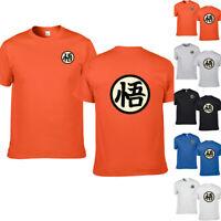 T-Shirt Dragon Ball Z Goku's GI Symbol Cotton Tee Short Sleeve Shirt Tops summer
