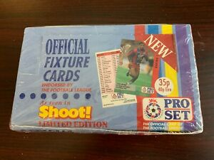 1991 Pro Set Official Fixture Cards Unopened Factory Sealed Box .(Soccer)
