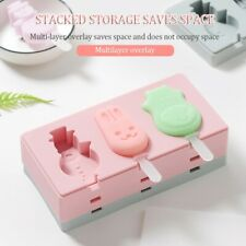 Silicone  Popsicle Mold Frozen Ice Lolly Mould Tray Pan Ice Cream Maker Tool