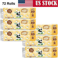 72 Rolls 4 Ply Bamboo Toilet Papers Bathroom Bath Tissues 214 Sheets per Roll