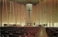 St Peter Minnesota~Gustavus Adolphus College~Inside Christ Chapel~1961 Postcard