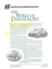 #3136  32c World of Dinosaurs Sheet USPS #511 Commemorative Stamp Panel