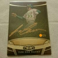 Jose Canseco Autograph Baseball Card 2019 Athletics NM~EX Tier One Talent /25