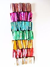 Wide Shell Cuff Beach Bracelet Stretch Iridescent Lustrous Organza Gift Bag New