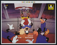 Maldives 1802 MNH Disney, Goofy's 60th Anniversary, Basketball, Sports