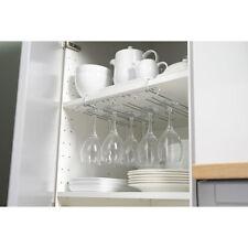 Chrome Glass Rack Stand Holder Kitchen Cupboard Storage Organiser