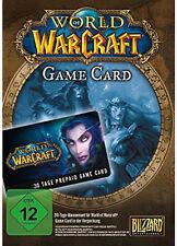 World of Warcraft WoW  - GameCard 30 Tage PC Spielzeit Code
