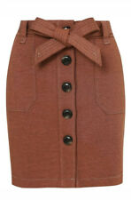 George Bnwt Rust Button Down Skirt Size 14