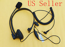 Over-Head Earpiece/Headset Boom Mic VOX For Cobra 2 Way Radio Walkie Talkie New