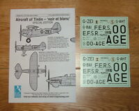 1/72 scale AIRCRAFT OF TINTIN DECALS SPECIAL EDITION BY BLUE RIDER (Sheet CD005)