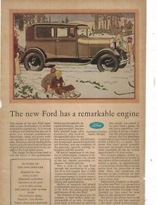 1929 Ford Model A Tudor Sedan Original ad from Farm Journal - Scarce