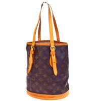 Auth LOUIS VUITTON Bucket PM Shoulder Tote Bag Monogram Brown M42238 01EA984