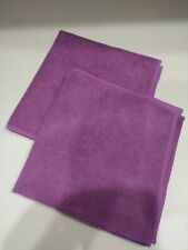 New 2pc set Purple Microfiber Towels- Cleaning Rags 16""