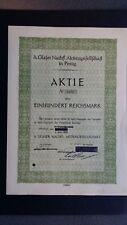 Aktie A. Glaser Nachfl. AG  100 RM 1932 Penig Sachsen