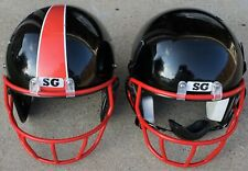 Simpson Ganassi Football Helmets size (M) model Sgh-1 (Black) Two Pcs, Used.