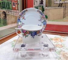 "VINTAGE HUTSCHENREUTHER SELB BAVARIA #7577 VERNON 2 1/4"" FLAT CUP & SAUCER SET"