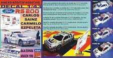 ANEXO DECAL 1/43 FORD RS200 CARLOS SAINZ BAJA ESPAÑA ARAGON 1988 (09)