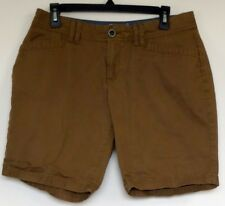 Eddie Bauer Brown Specially Dyed Legend Wash Blakely Cotton Shorts 10 Petite