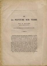 BALTARD. DE LA PEINTURE SUR VERRE. Lu dans la séance publique du 16 août 1864.