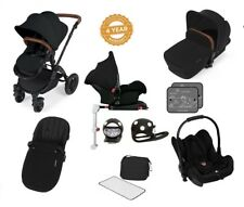 Ickle Bubba Stomp V3 Isofix AIO Travel System with Buggy Lights/Black on Black