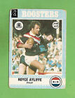 1977 EASTERN SUBURBS ROOSTERS SCANLENS RUGBY LEAGUE CARD #94 ROYCE AYLIFFE