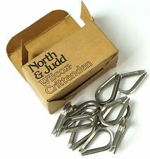 """Lot of 10 North and Judd Inc. Wire thimble ends for 1/8"""" wire rope"""