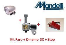 Kit Faro Cromato + Dinamo SX in Alluminio + Stop per bici 26-28 R Viaggio bacche