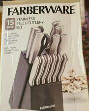 Farberware 15 Piece Stainless Steel Cutlery Knife Set