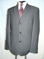 HUGO BOSS (EINSTEIN) ELEGANT GREY HERRINGBONE SUIT JACKET/BLAZER UK 40L EU 50L