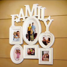 LK_ EG_ PLASTIC FAMILY PHOTO FRAME WALL HANGING PICTURE HOLDER HOME ROOM DECOR