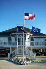 20' FT Flag Pole Quality Nautical Single Mast Flagpole IDEAL 4any MARINE SETTING