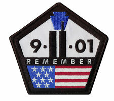 "Remember ""9-11-2001"" Embroidered Tribute Patch - Bikers - Fire Fighters - EMT"