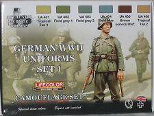Lifecolor Acrylics LC-CS04 World War 2 German Uniforms set 1
