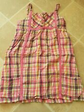 Cute Girls George Summer Dress/Tunic Top Pink Check 4-5 Years Nice Condition