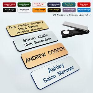 MAGNET Custom Engraved Name Badge Employee Social Key Worker Sales Advisor Tags