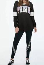Victoria's Secret PINK Bling Sequins Campus Long Sleeve Tee ~ Size Medium