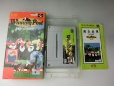Winning Post Nintendo SFC Super Famicom Tested Working