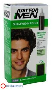 BL Just For Men Shampoo In #H-50 Haircolor Darkest Brown - Two PACK