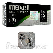 1 x Maxell 379 Silver Oxide battery 1.55V SR521SW V379 D379 Watches 0% Mercury