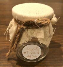 WEDDING FAVOR JARS - 2.8inch  Mini w/Fabric lid with twine (50 count)