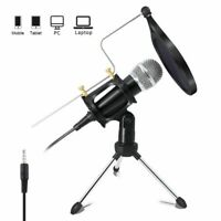 Microphone Condenser Stand Android 3.5mm Karaoke Mic Record For Computer Phone