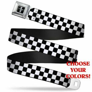 Mustang Seatbelt Belt - Checkered Colors - MUST HAVE Apparel For Mustang Lovers!
