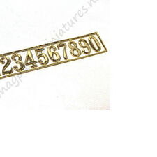 Dolls House Brass House Numbers 1set/pkg Houseworks