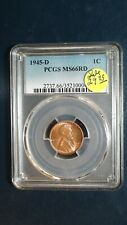 1945 D Lincoln Wheat Cent PCGS MS66 RED GEM 1C Coin PRICED FOR QUICK SALE!