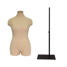 Adult Female Plus Size Half Body Mannequin Dress Form Pinnable Torso
