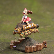 Totoro Forest Woodland Amusement Park Mei & Cat Bus Bobblehead Figure japanese