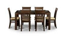 Contemporary Wooden Dining Tables Sets 7 Pieces